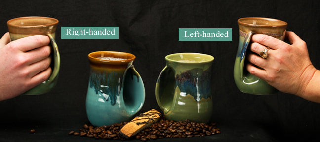 Hand Warmer Mug - Left - Misty Green