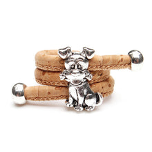 Dog Lovers Pendant Bracelet - Handmade - Cork - JustLiveHappyLife