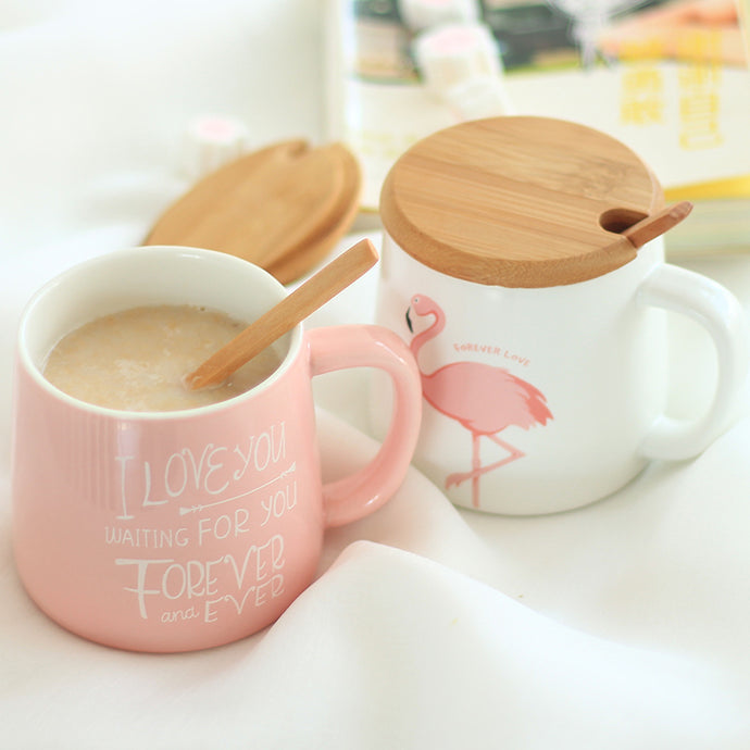Cute Pink Flamingo Coffee Or Tea Ceramic Mug For Home, Office Or Creative Gifts - JustLiveHappyLife