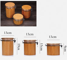 Natural Bamboo Cover Sealed Storage Box 3 Sizes - JustLiveHappyLife