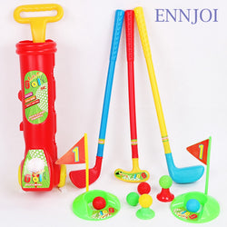 New Plastic Mini Golf Club Set Golfball Toy Child Sport Golf Club 3 Golf Clubs and 6 Golf Balls for Children Kids Sport Game
