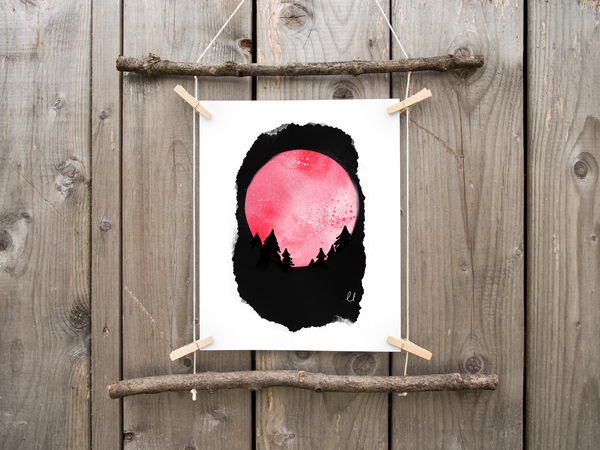 Pink Moon Printable Art Download