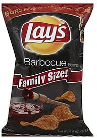 Lays Potato Chips Barbecue Flavored, Family Size!, 9.75 oz