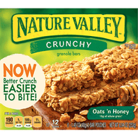 Nature Valley Granola Bars, Crunchy, Oats 'n Honey