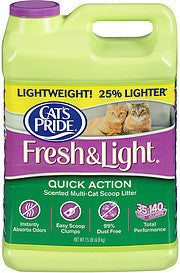 Cat's Pride Cat Litter Fresh & Light Quick Action Scented Multi-Cat Scoop Litter, 15.0 Lb