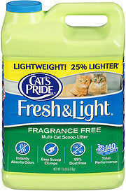 Cat's Pride Cat Litter Fresh & Light Fragrance Free Multi-Cat Scoop, 15.0 Lb
