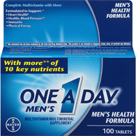 One A Day Men's Multivitamin/Multimineral, Men's Health Formula, Tablets