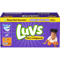 Luvs Ultra Leakguards Diapers, 3 (16-28 lb), Big Value!