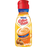 Nestle Coffee-Mate Fat Free Hazelnut Flavor Coffee Creamer