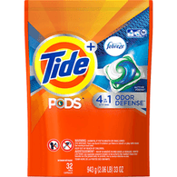 Tide Pods + Febreze Detergent, with 4 in 1 Odor Defense, Active Fresh
