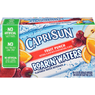 Capri Sun Roarin' Waters Flavored Water Beverage, Fruit Punch