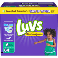 Luvs Ultra Leakguards Diapers, Size 6 (Over 35 lb)