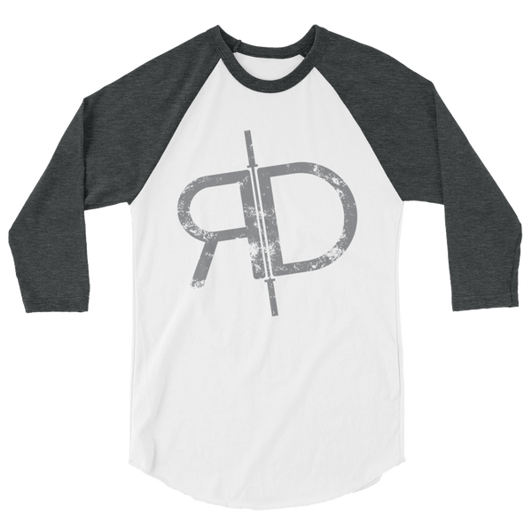RD: Rob Diesel 3/4 sleeve raglan shirt (front print only)
