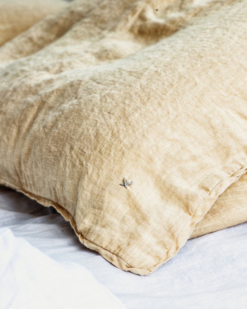 Linen Pillow Case - Ochre