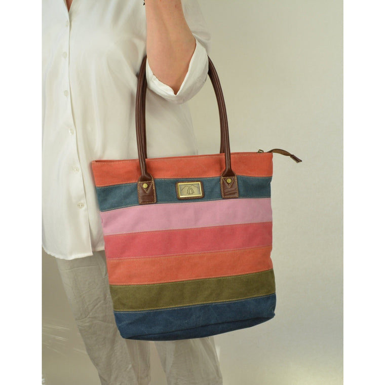 Camille Conceals Large Canvas Tote/Mom Bag with Ambidextrous Top Draw Holster