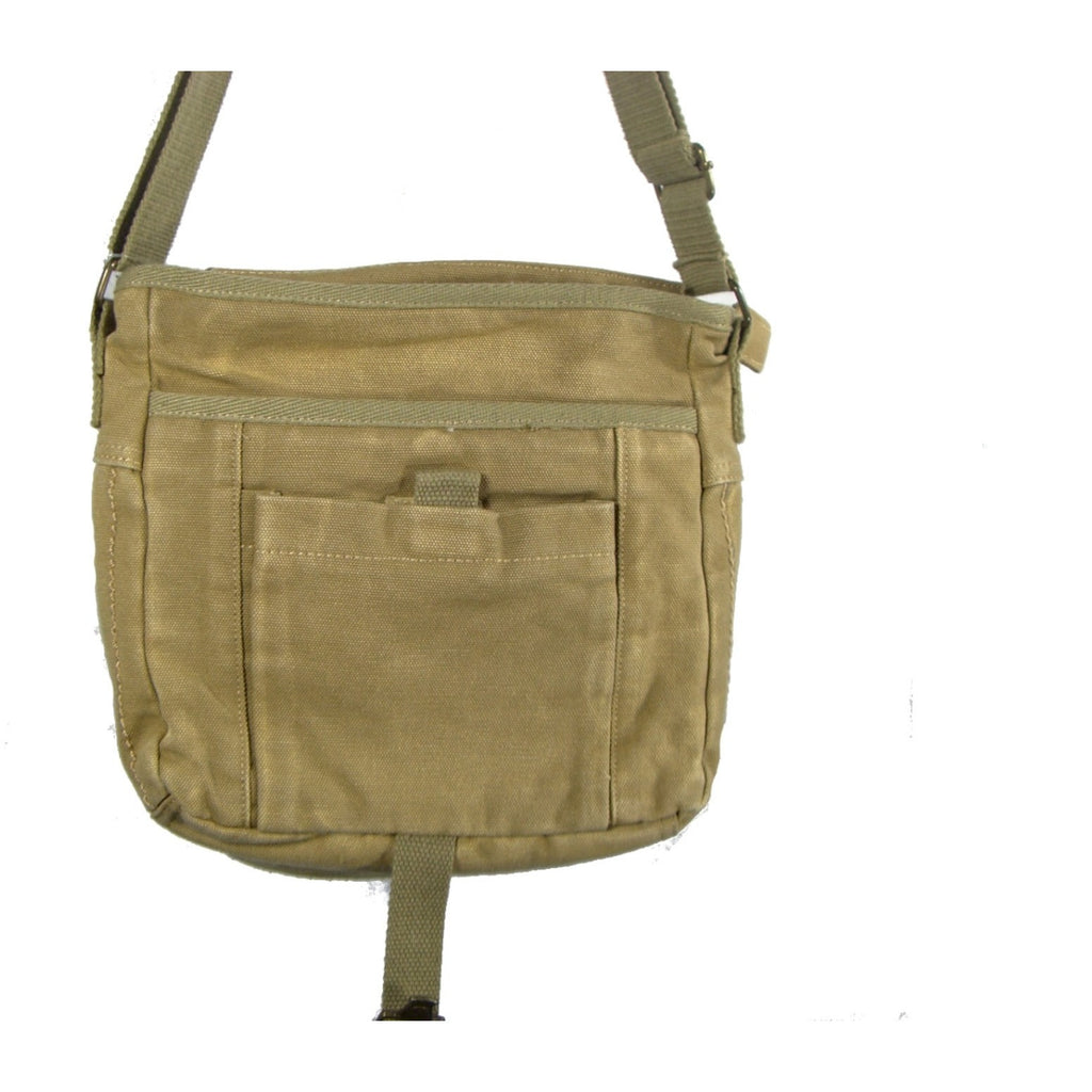 Camille Conceals Sand Washed Canvas Concealed Carry Bag Under Flap