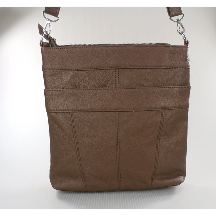 "Camille Conceals ""Connie"" - A Versatile Leather Conceal Carry Cross Body Briefcase/Purse"