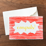 "Japanese ""WASHI"" greeting card / congrats!"