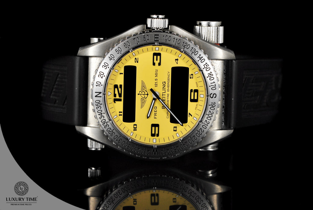 Breitling Emergency Yellow Dial Men's Watch
