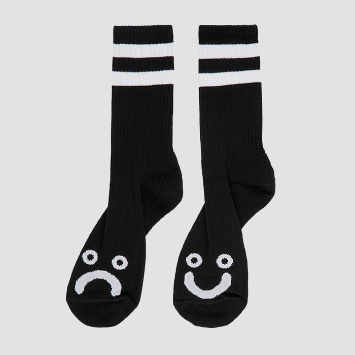 Polar Happy Sad Socks - Black