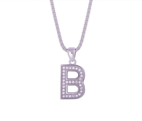 Silver Alphabet Letter 'O' Necklace