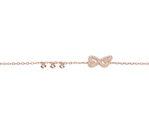 Rose Gold-plated Silver Five Pyramid Palm Bracelet