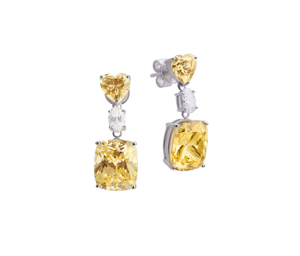 Yellow Diamond Enchanted Lover Earrings
