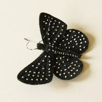 Metalmark Fabric Butterfly Brooch Starry Night
