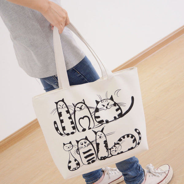 Big Canvas Handbag Big Canvas Handbag - Grr Cats