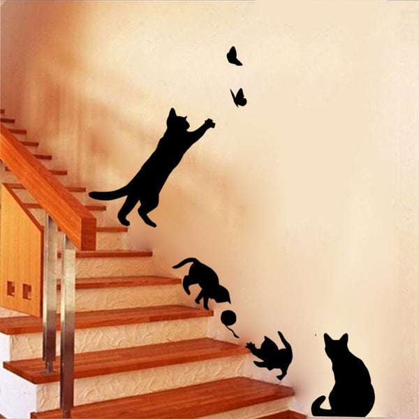 Cat Play Wall Sticker Wall Sticker - Grr Cats