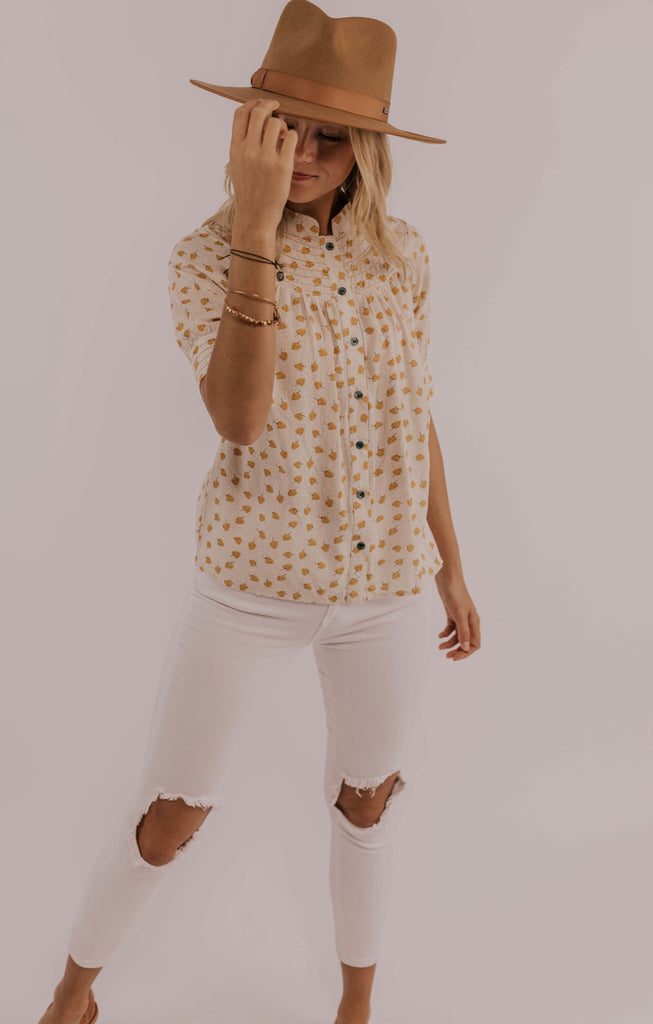 Modest Women's Clothing Button Top | ROOLEE