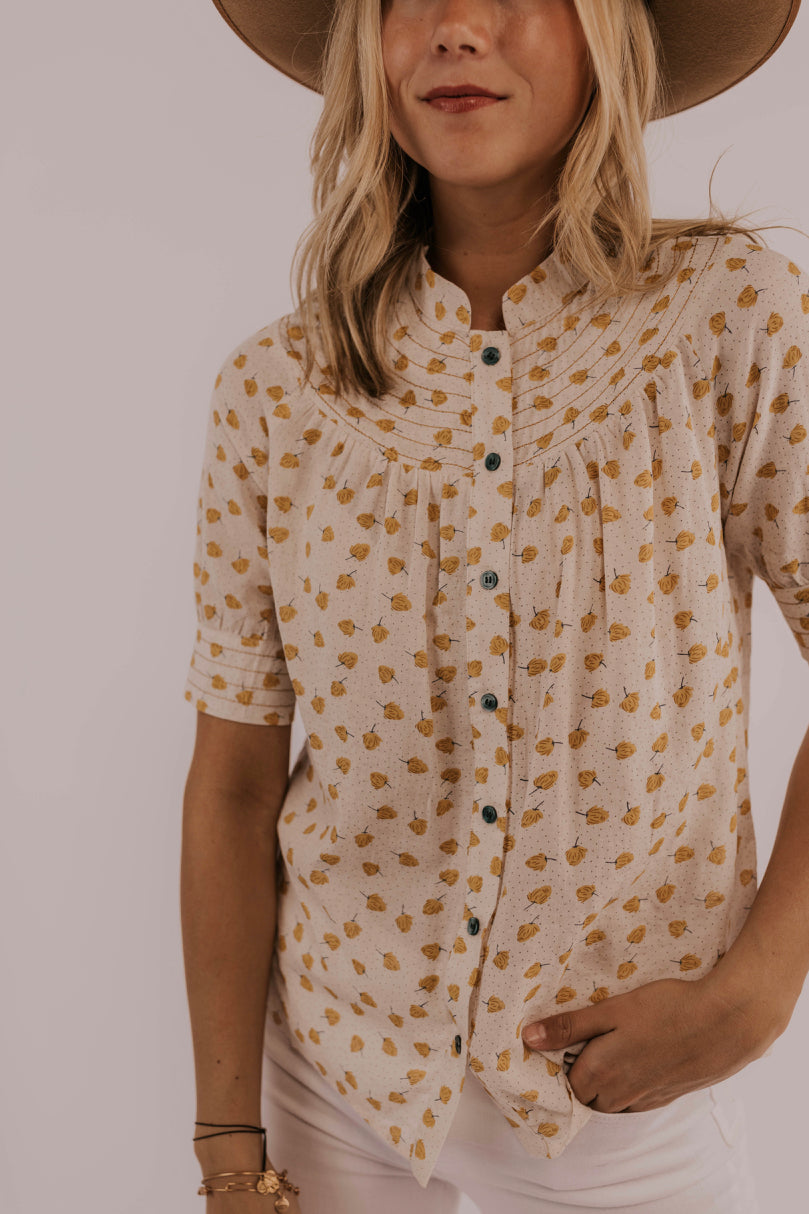 Spring/Summer Outfit Ideas Button Shirt | ROOLEE