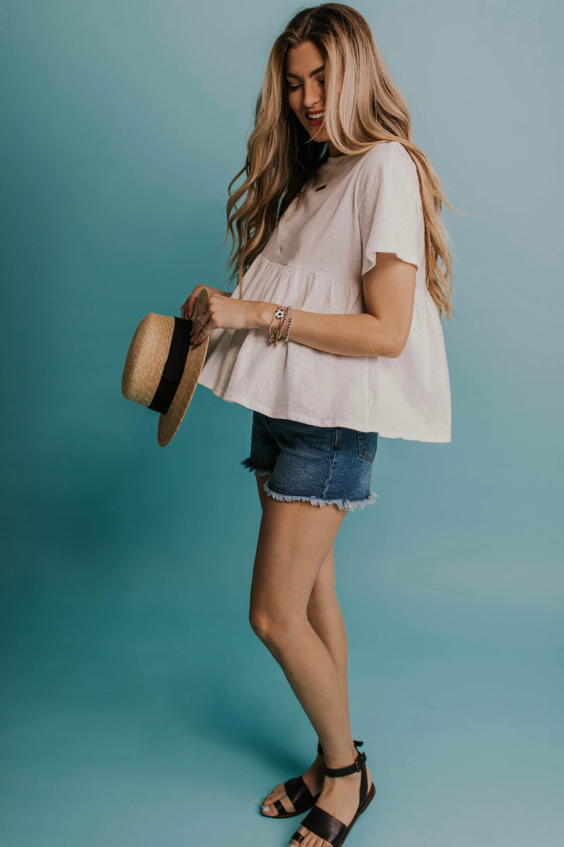 Simple Babydoll Top | ROOLEE
