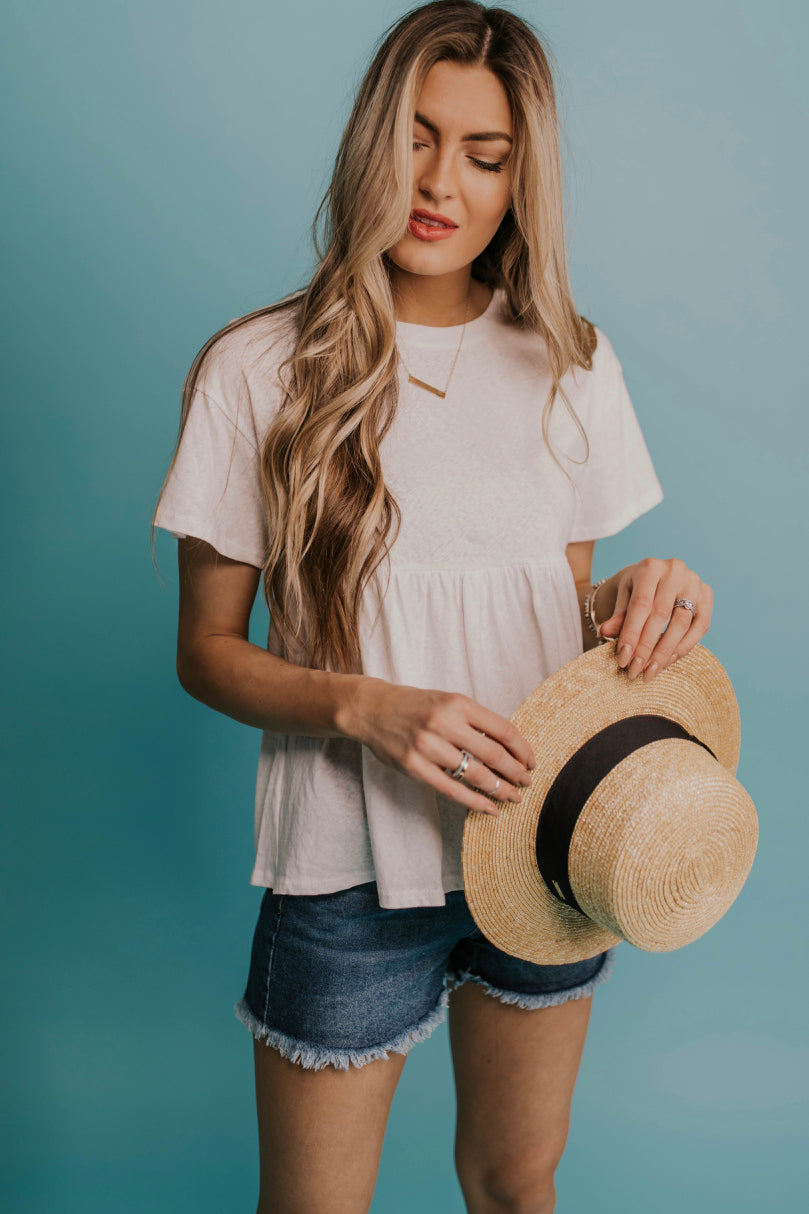 Simple Babydoll Top Outfit Ideas | ROOLEE