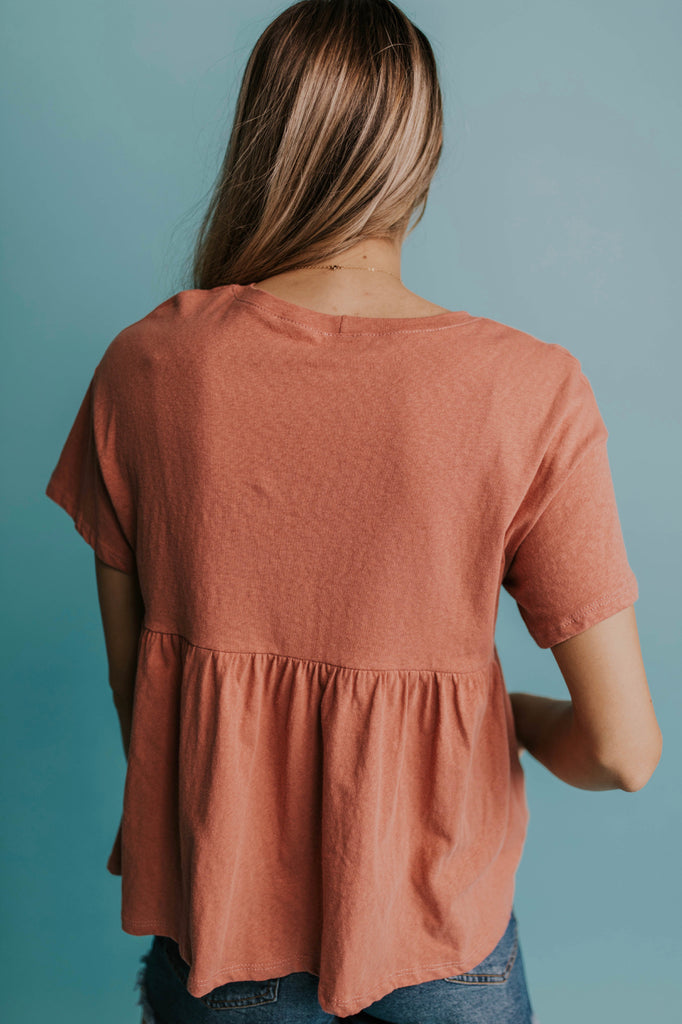 Simple Peplum Top | ROOLEE