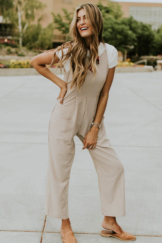 Stripe Jumpsuit Outfit | ROOLEE