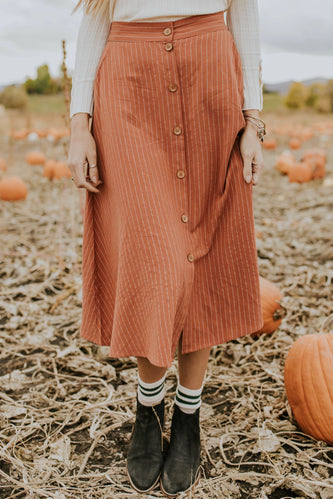 Presley Button Skirt | ROOLEE