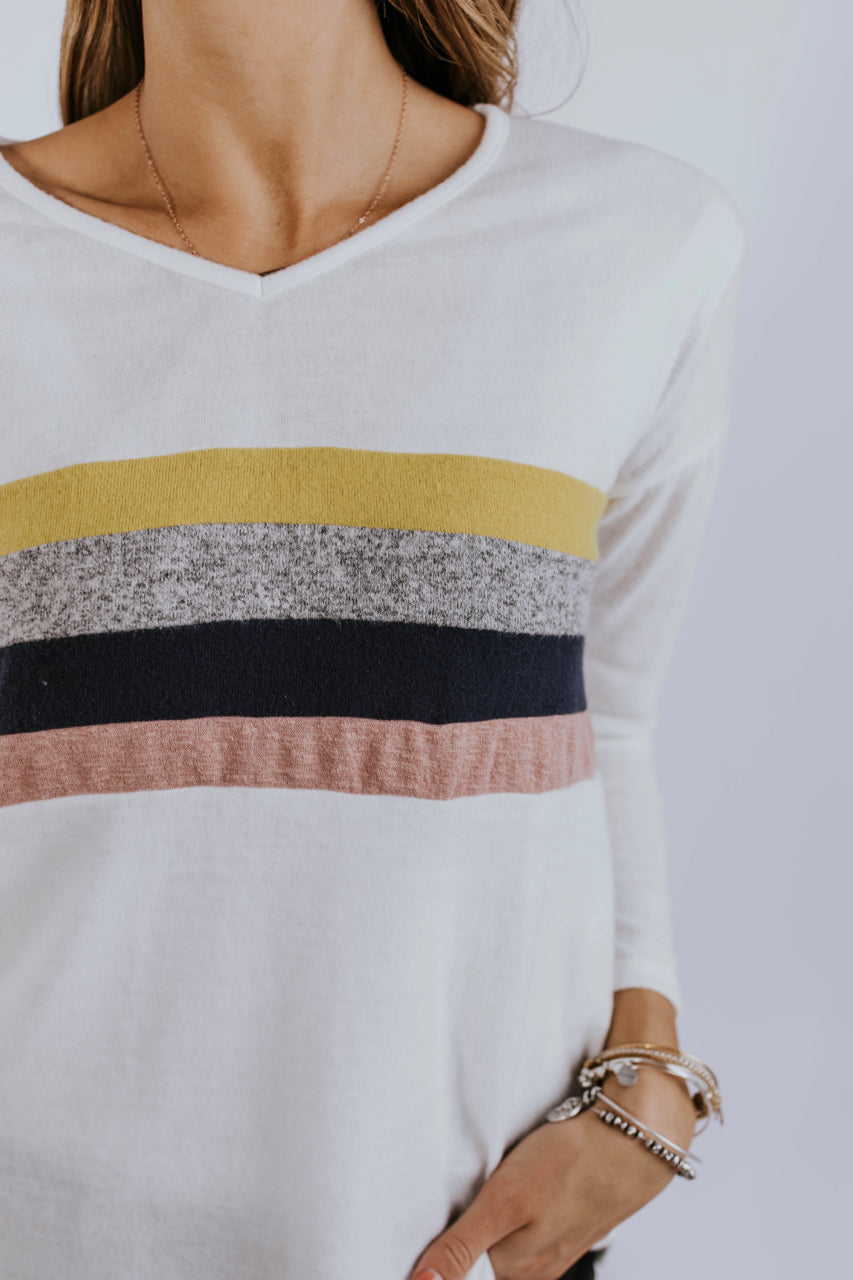 Alessia Stripe Top | ROOLEE