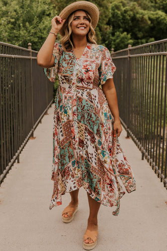 Patchwork Midi Dress | ROOLEE