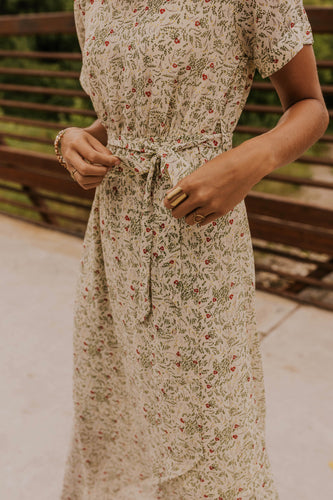 Maxi Floral Wrap Dress | ROOLEE