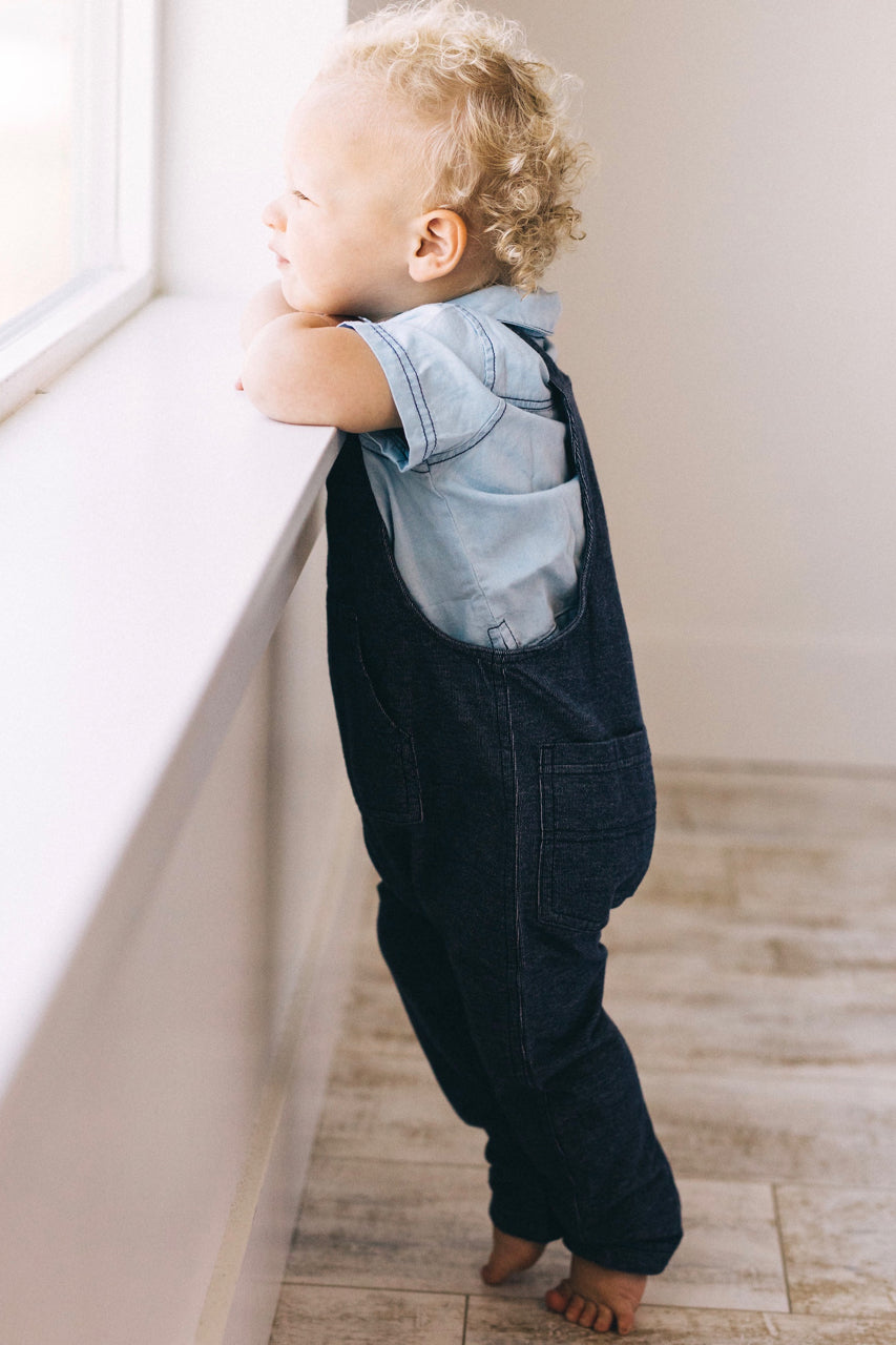 Denim One Piece Jumper For Babies | ROOLEE Kids