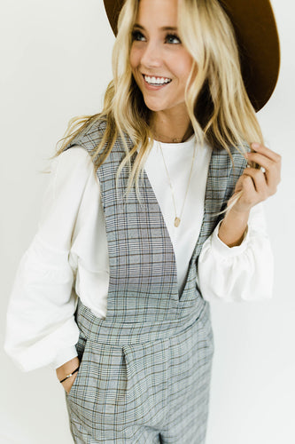 Best I Ever Plaid Jumpsuit