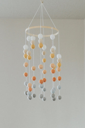 Multi Color Pom Pom Mobile | ROOLEE