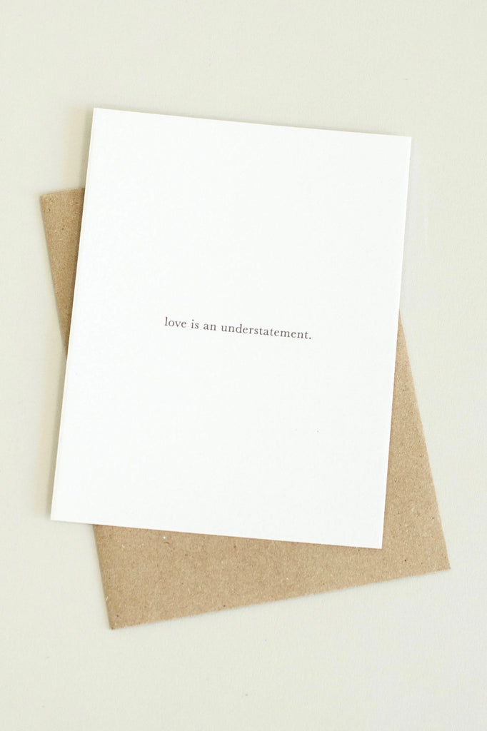 Understatement Card | ROOLEE Gifts