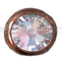 Clear Swarovski Crystal In Small Antique Copper Setting