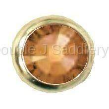 Crystal Copper Swarovski Crystal In Small Brass Setting