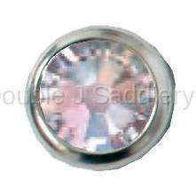 Clear Swarovski Crystal In Small Silver Setting