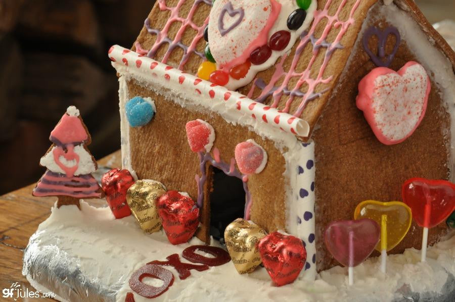 Gluten free gingerbread house made with gfJules gluten free graham cracker - gingerbread mix