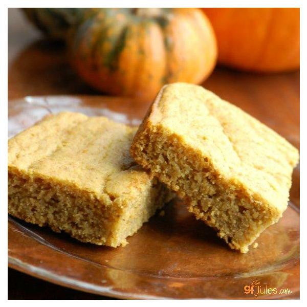 Hearty slices of gluten free cornbread made from gfJules gluten free cornbread mix