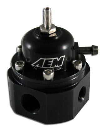 AEM 94-01 Acura Integra / 90-93 Honda Accord / 92-95 Honda Civic / 99-00 Honda Civic Fuel Pressure Regulator - 25-300BK